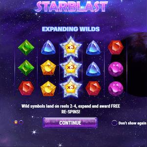Playn GOs Starburst-Spielautomat